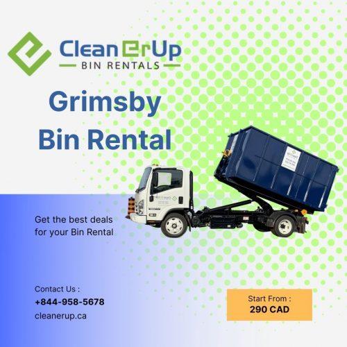 Grimsby, ON Waste Bin Rentals Graphic   Clean Er Up